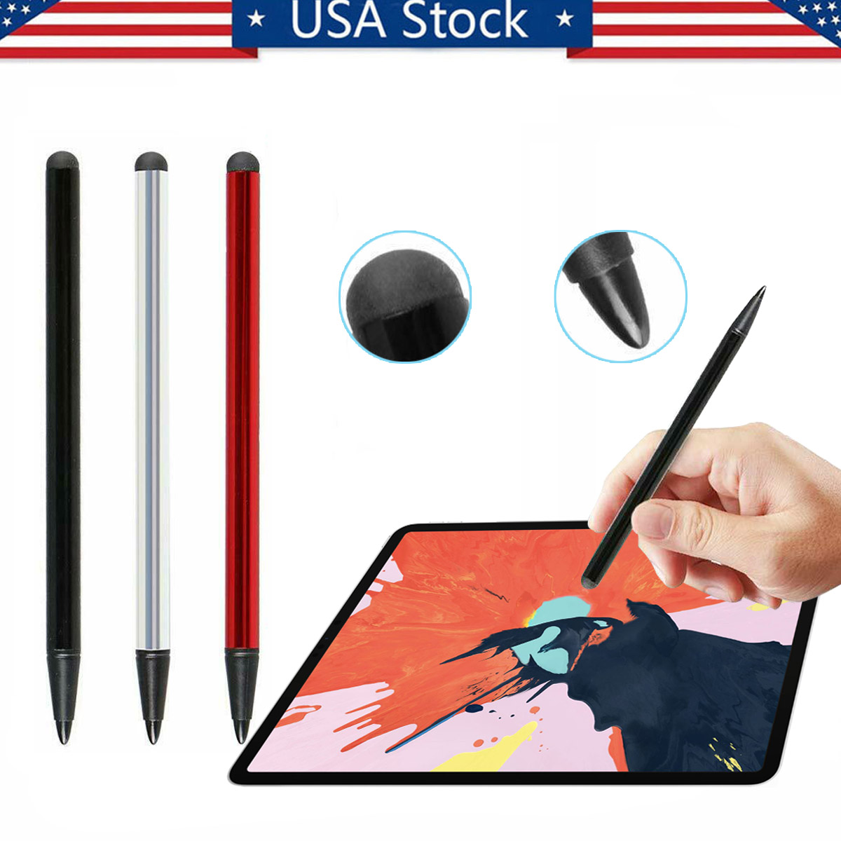 2pcs Universal Capacitive Pen Touch Screen Stylus Pens for Tablet for Pad