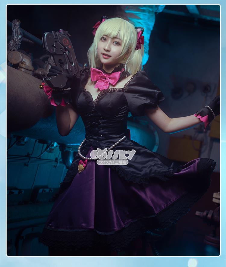 Overwatch DVA D.VA Song Hana Black Cat Puss Maid Suit Dress Wig Cosplay Costume
