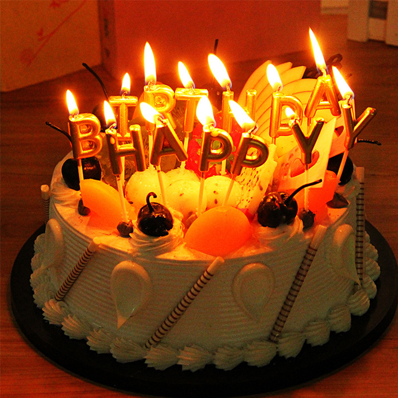 image is loading creative happy birthday letter candles toothpick cake cute