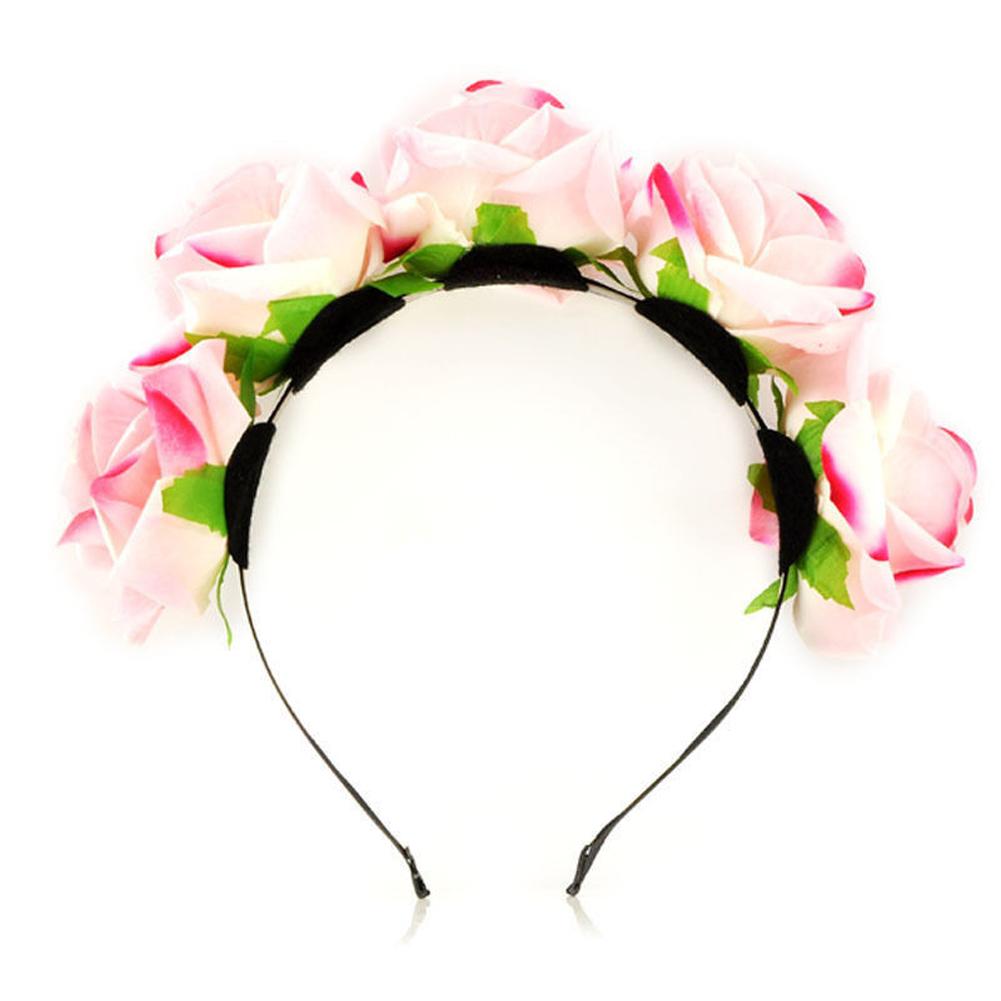 Rose flower crown festival headband beach wedding bridal garland rose flower crown festival headband beach wedding bridal garland floral hairband izmirmasajfo