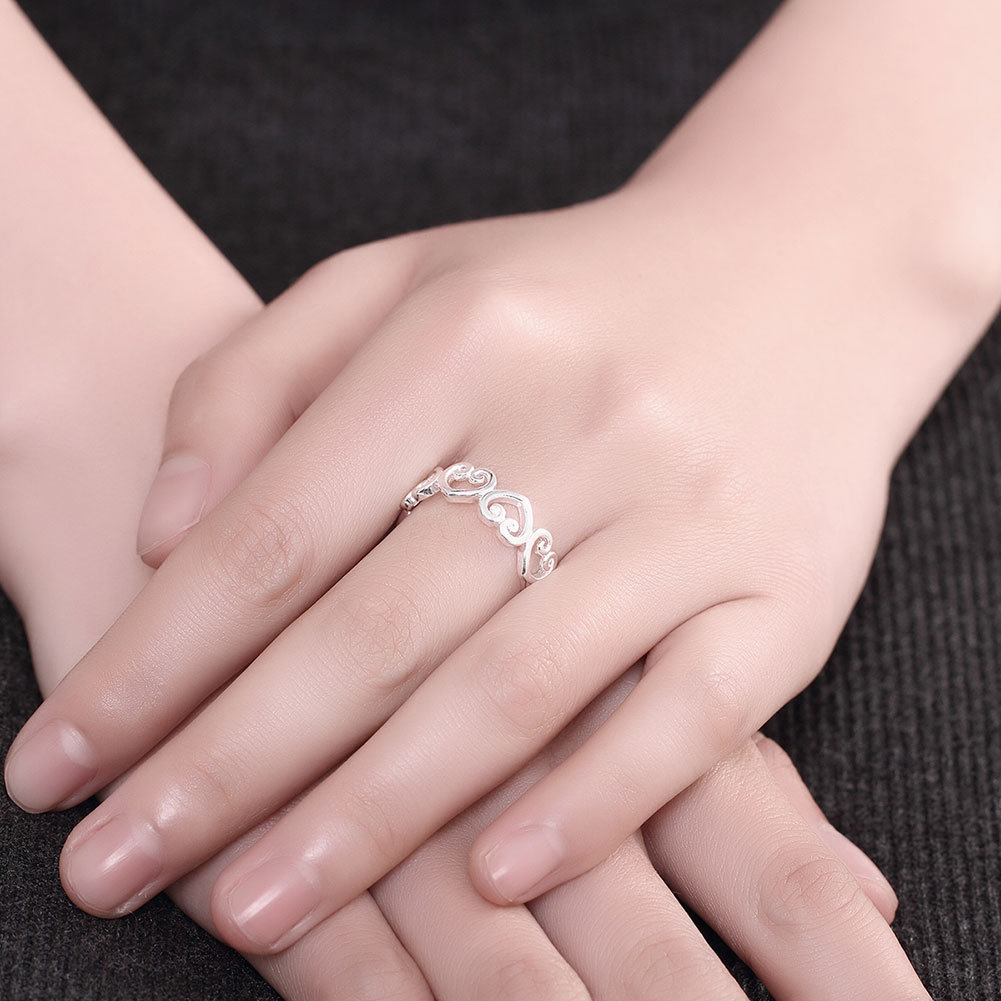 925 Silver Jewelry Engagement Wedding Band Statement Rings Steel ...