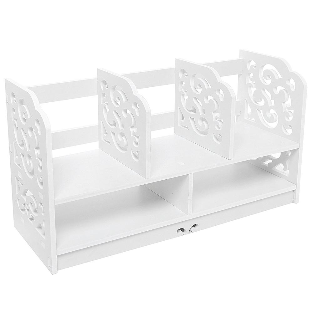 Desktop Shelf Desk Storage Organizer Table Bookshelf Bookcase Office Furniture