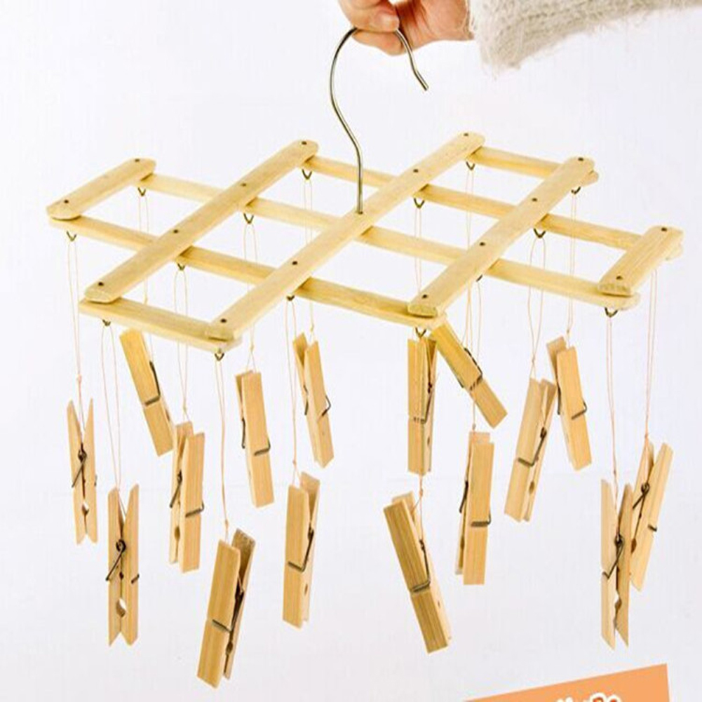 Photo Hanger Clips bamboo laundry drip hanger clips clothes drying rack and hanging