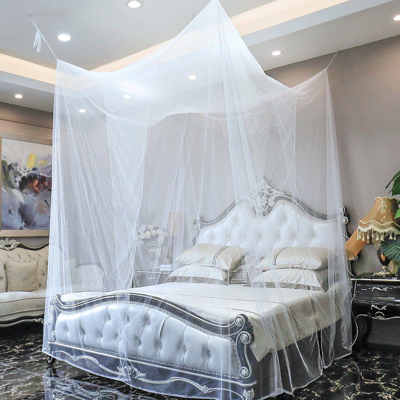 Zanzariera a baldacchino letto matrimoniale singolo tenda protezione insetti 4c ebay - Zanzariera letto ...