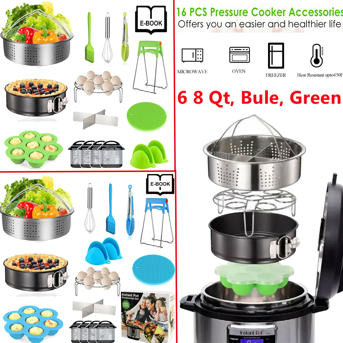 8Qt Instant Pot Accessories set Compatible with Instant Pressure Cooker Pot 6