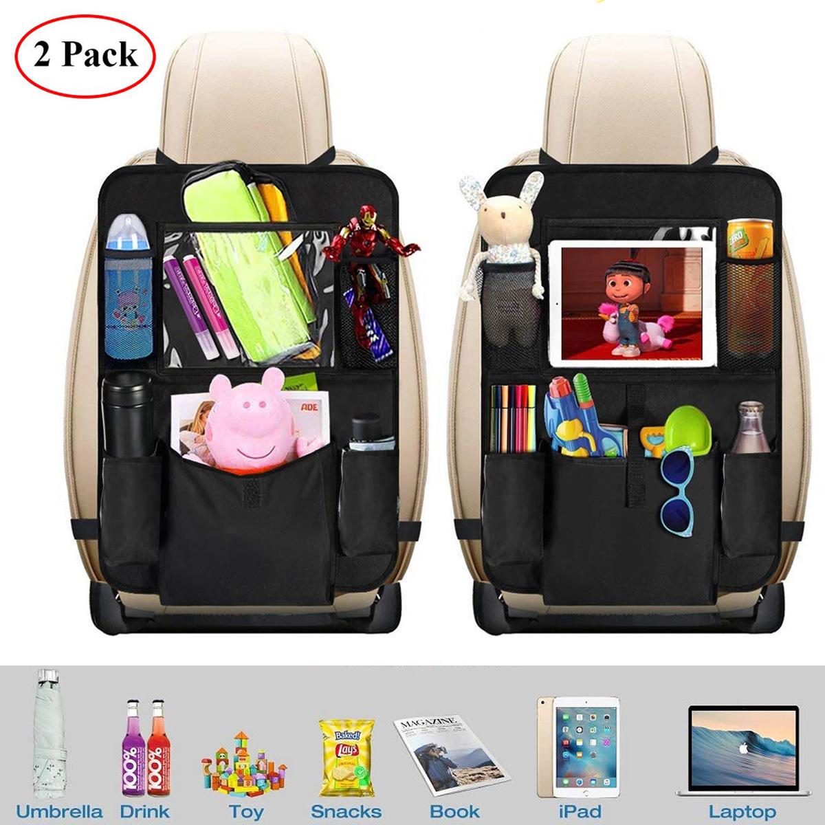 2x Auto-Rücksitz-Organizer-KinderSchmutzabweisender Rückenlehnen-schutz