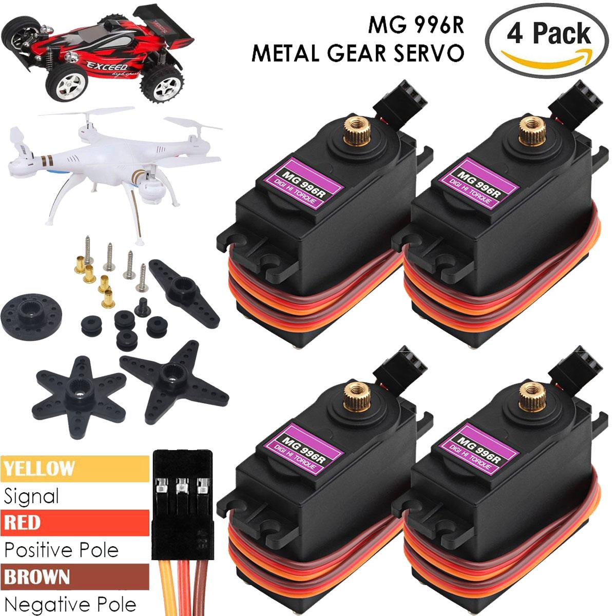 4X MG996R Metall Gear Digital Torque Lenk Servo Tower RC Modellbau für Auto Boot
