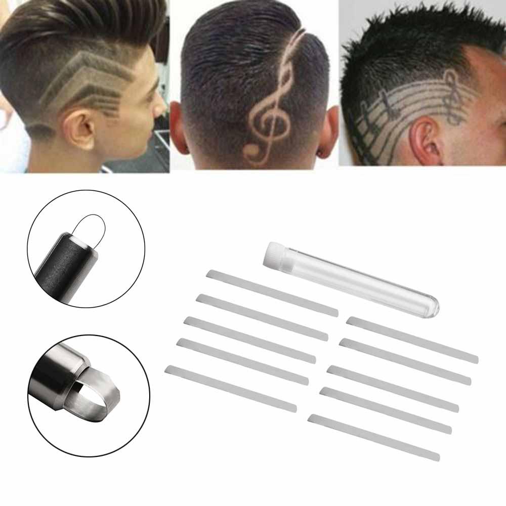 1 Bag Men Haircut Razor Engraving Pen Blade Pro Salon Hair Beard