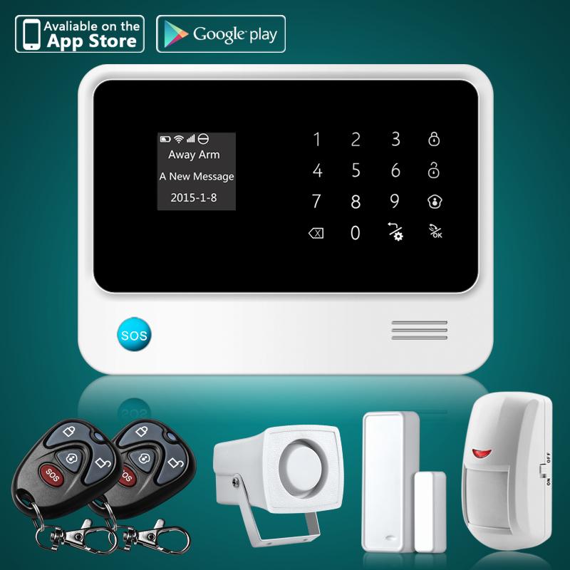 DIY G90B WiFi GSM SMS Home House Burglar Alarm System,Wireless Alarm ...
