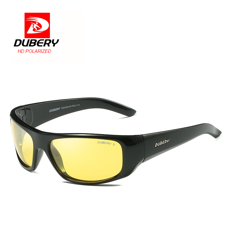 b88c3c95895 Details about DUBERY Polarized Men s Sunglasses Outdoor Driving Sport  Yellow Lenses Eyewear