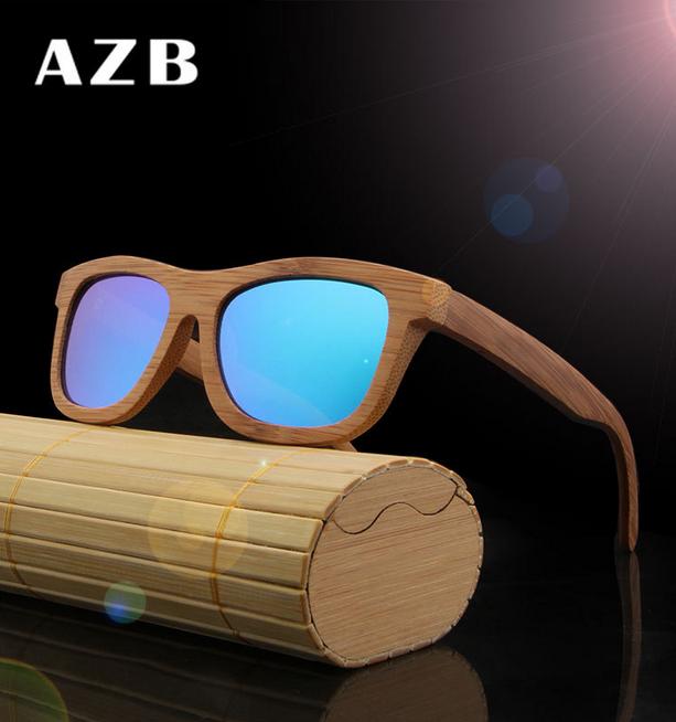 AZB Bamboo Wood Wooden Sunglasses Box Glasses Holder Protector Case Handmade  !