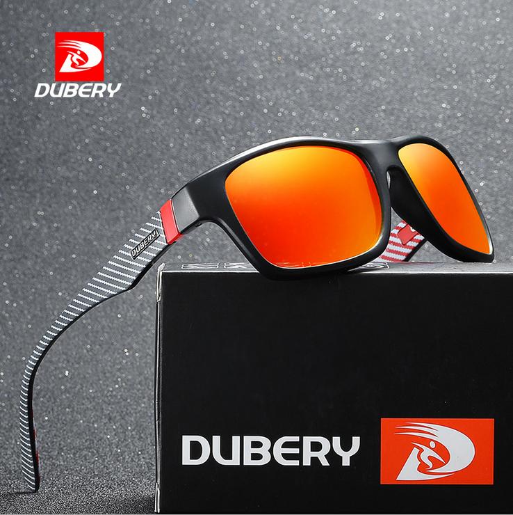 DUBERY Men Sport Polarized Sunglasses Outdoor Driving Fishing Square Glasses Hot