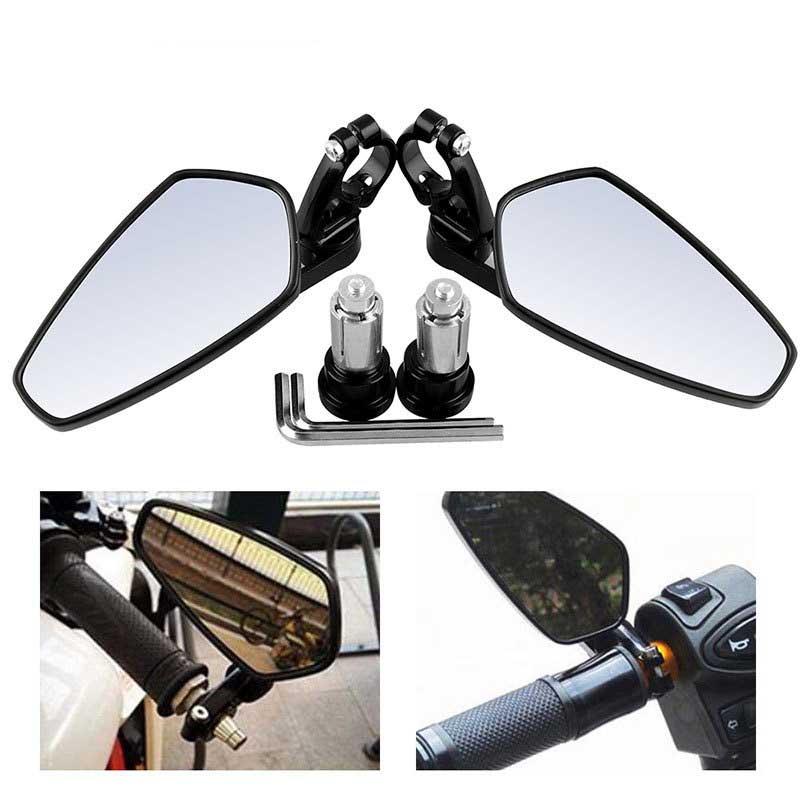 "7//8/"" Universal Motorbike Motorcycle Handle Bar End Rearview Side Mirror Aluminum"