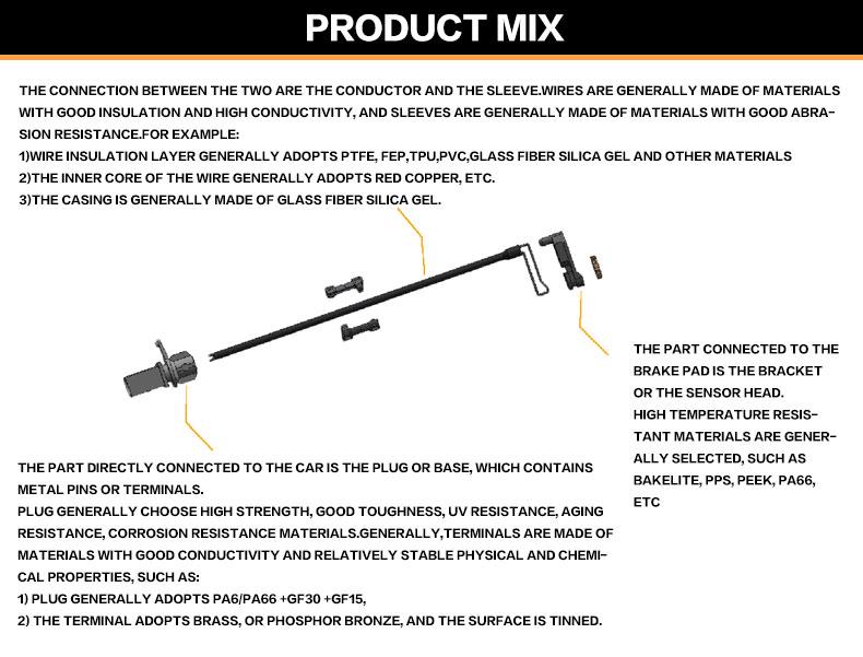 Front Axle Brake Pad Wear Sensor 675 mm Fits BMW 1 2 3 4 F80 F35 F31 F30 2010