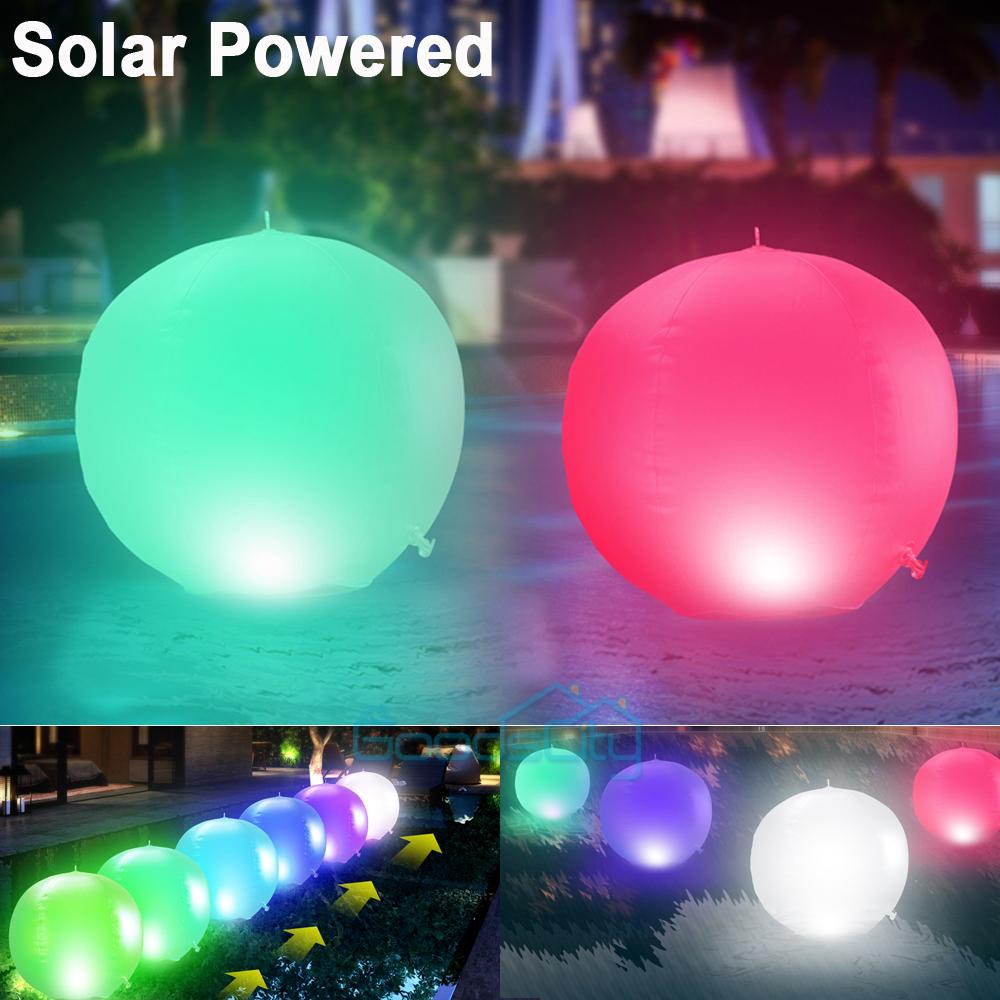 NEW Solar LED Floating Lights Garden Pond Pool Lamp Rotating Color Change