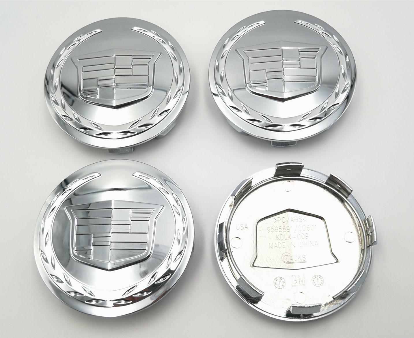 """4 x Chome Center Cap 3.25/"""" For Cadillac Escalade 2005-2013 18/"""" 20/"""" 22/"""" 9595891"""