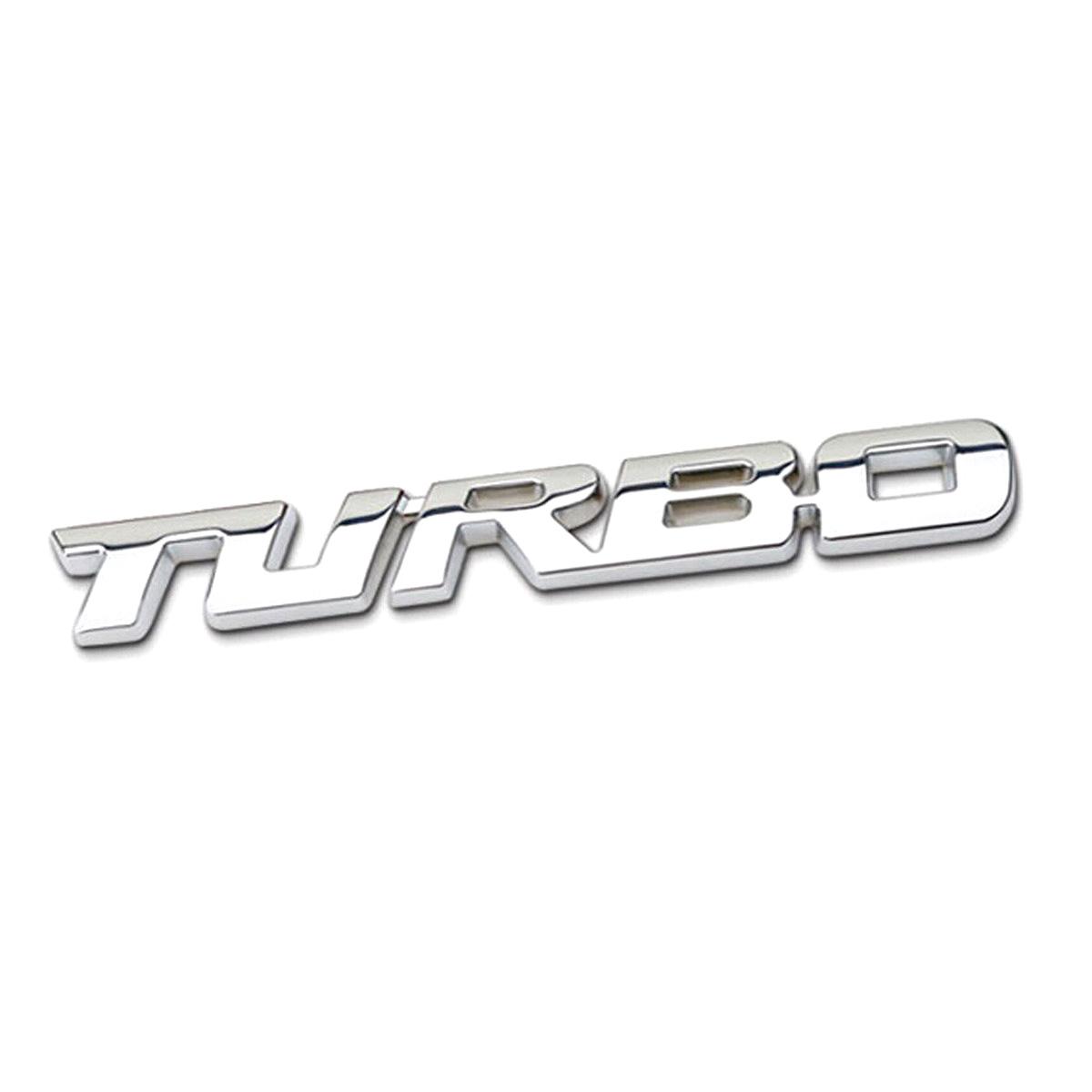3D Metal Chrome Turbo Trunk Tailgate Car Auto Blue Emblem Badge Decal Sticker
