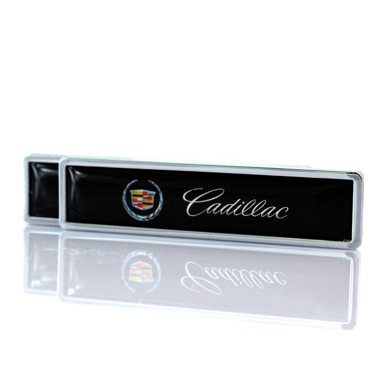 CADILLAC Car Trunk Side Wing Fender Metal Red Emblem Badge Sticker Decal