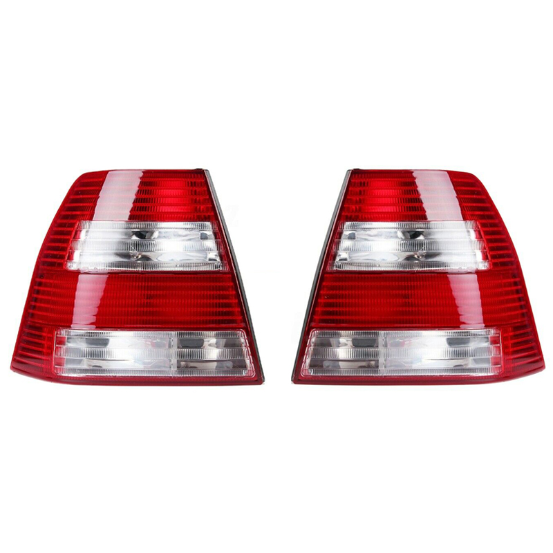 Pair Rear Tail Light Brake Lamps Red Clear For Vw Jetta