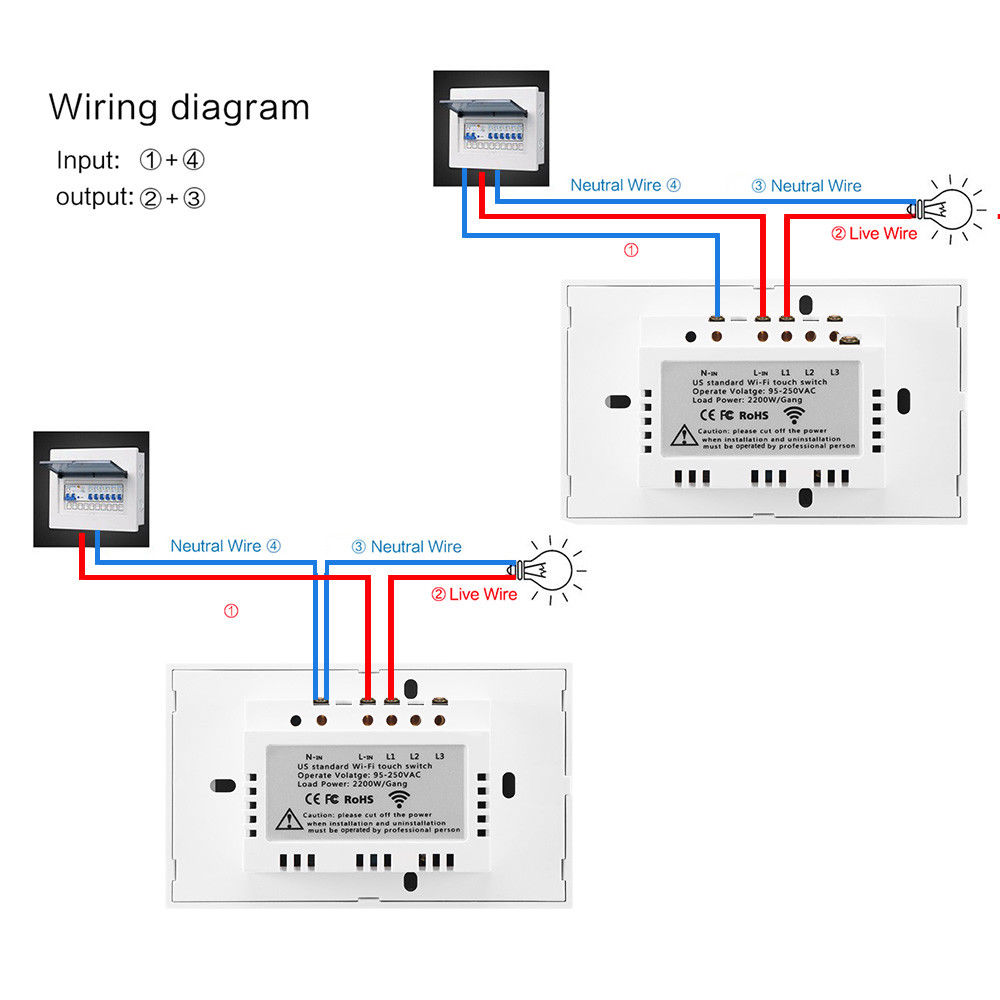 1 Gang Wifi Smart Touch Panel Light Switch Home Timing Control For Wiring Diagrams Have Helped You In Your 4 Way Alexa Google