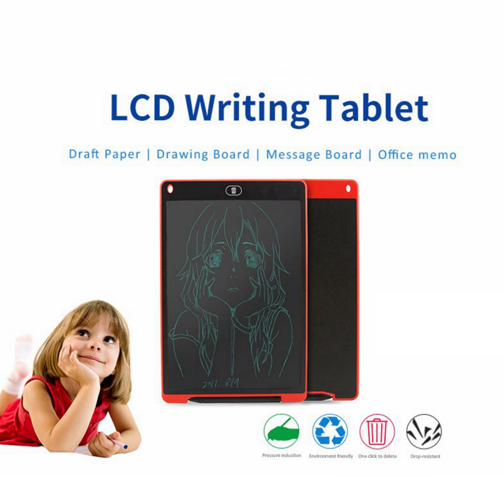 "8.5/"" 12/"" LCD Writing Tablet Drawing Board Child Handwriting Kid Graphics Notepad"