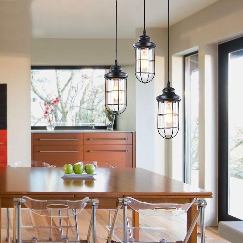 3 Lights Industrial Ceiling Light Island Lighting Kitchen Pendant Lamp Fixture