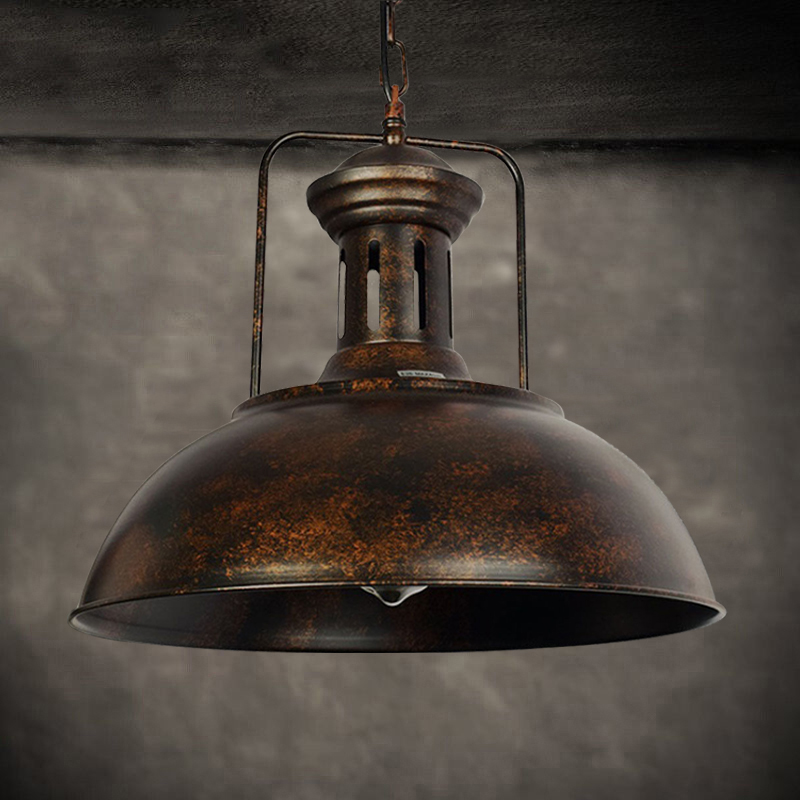 Nautical Style Industrial Ceiling Light Rust Chandelier