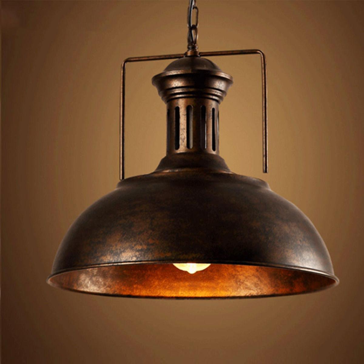 Details About Pendant Light Ceiling Lamp Fixture Vintage Rustic Warehouse Lighting