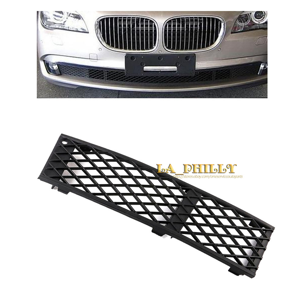 1 piece Front Left side Bumper Cover Lateral Grill for BMW F01 F02 740i 750i