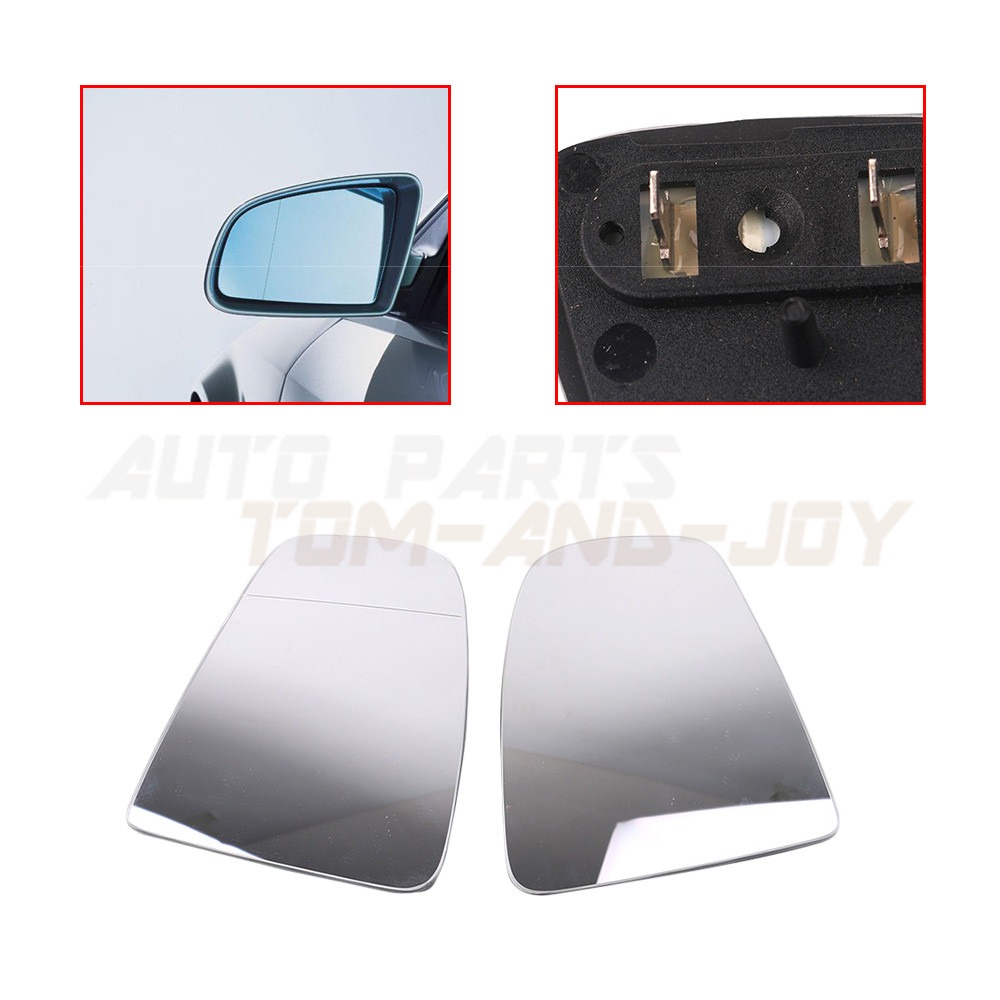 2Pcs Rearview Mirror Glass 8E0 For Audi A3 A4 B6 B7 A6 C6 Heated