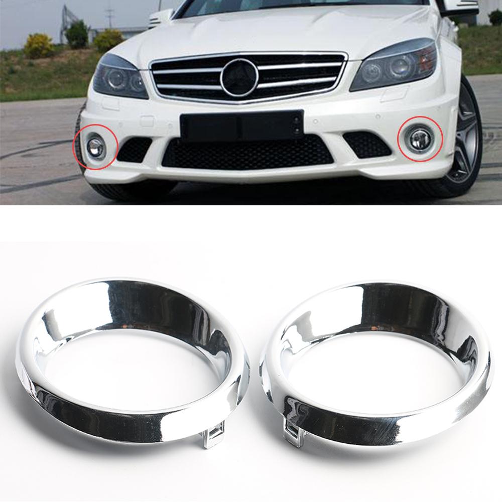 Fog Light Trim For 2008-2011 Mercedes Benz C300 Left Chrome