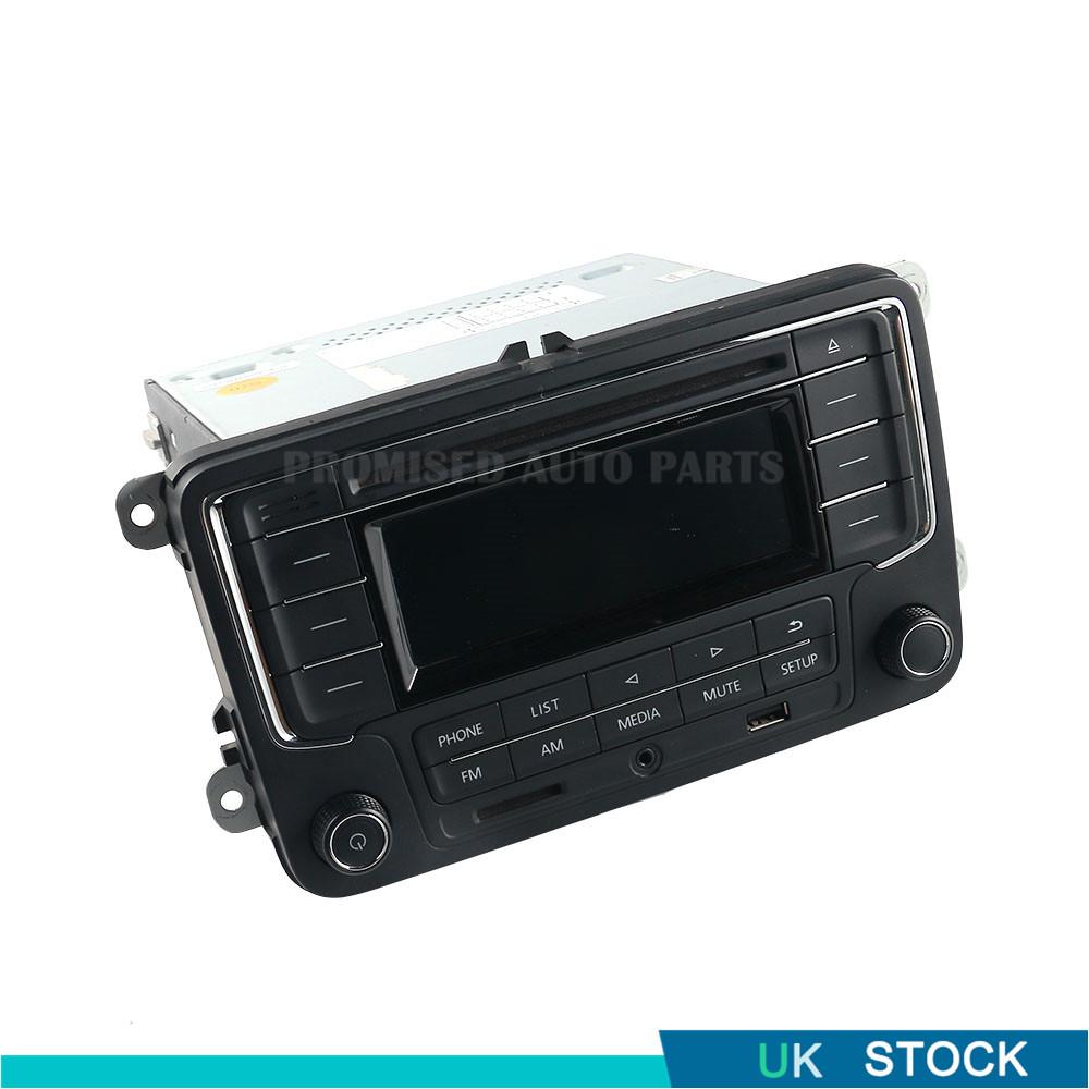 Radio Rcn210 Cd Player Usb Mp3 Aux Bluetooth For Vw Golf Jetta Passat Caddy Polo