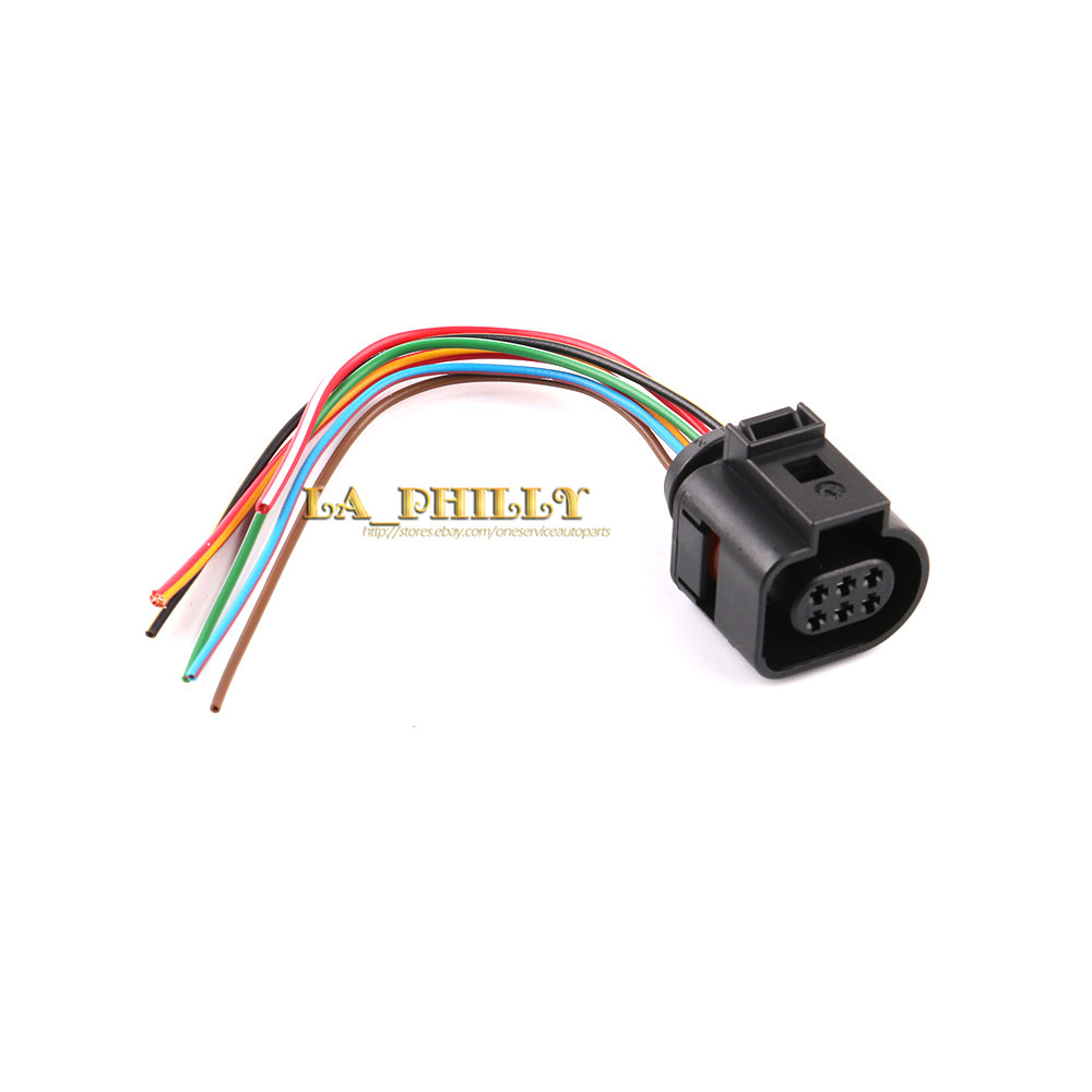 6 Pin Wiring Electric Fan Trusted Diagram Pollak Way Trailer Wire New Cooling Control Module Pigtail Connector Audi Vw Skoda Six
