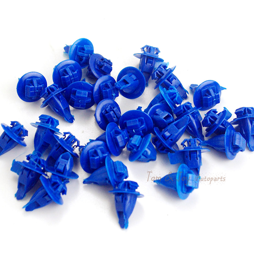 50 Garnish Moulding Panel Retainer blue Clips Fastener For Toyota 90467-10167