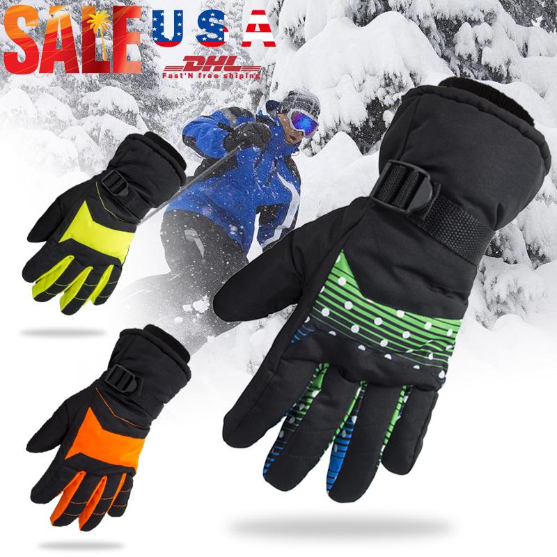 Women Men Winter Warm Full Finger Snow Ski Gloves Thermal Touch Screen Mittens