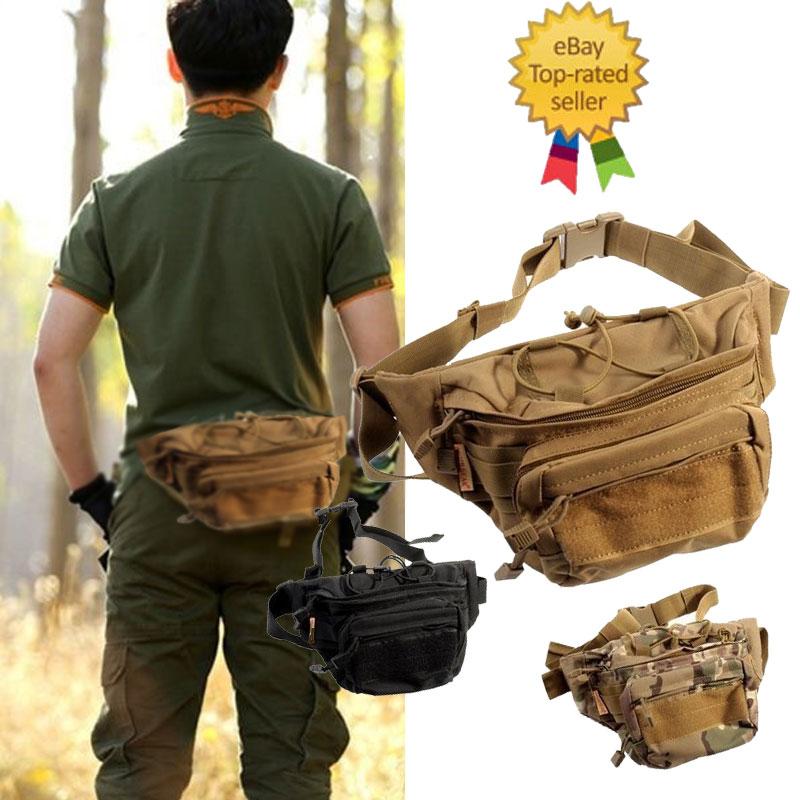 cb9ac7ce05f4 Details about 2019 Fashion Men Military Wallet Belt Bag Men Waist Pack  Pouch Hiking Chest Bag