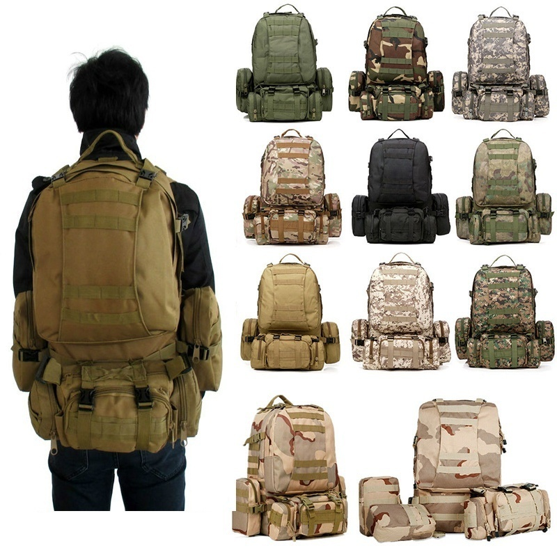 40L Molle Tactical Outdoor Military Rucksack Backpack Camping Travel Bag Pouch