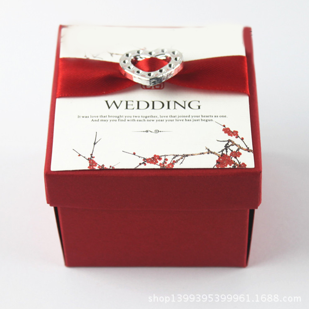 30PCS Heart Silver Diamante Rhinestone Buckle Wedding Invitation ...