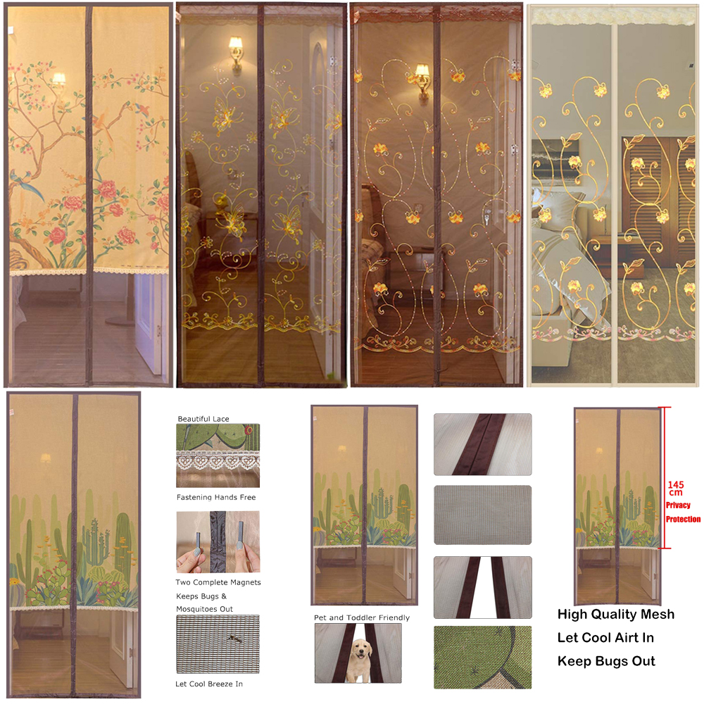 Summer Anti Mosquito Insect Fly Bug Curtains Magnetic Mesh