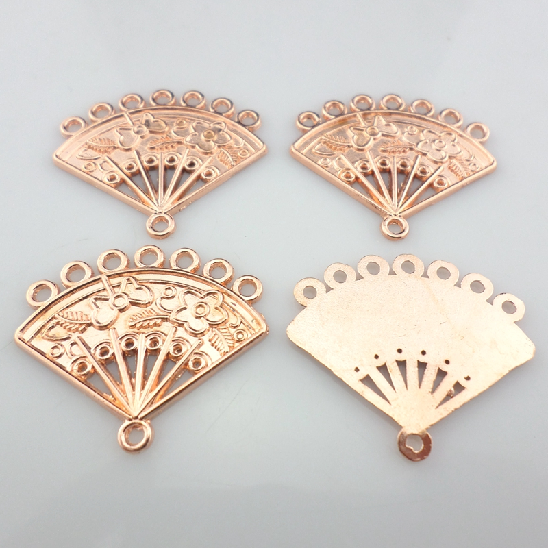 Tibetan Silver 1-7 holes Folding fan Charms Necklace Connectors Jewelry Making