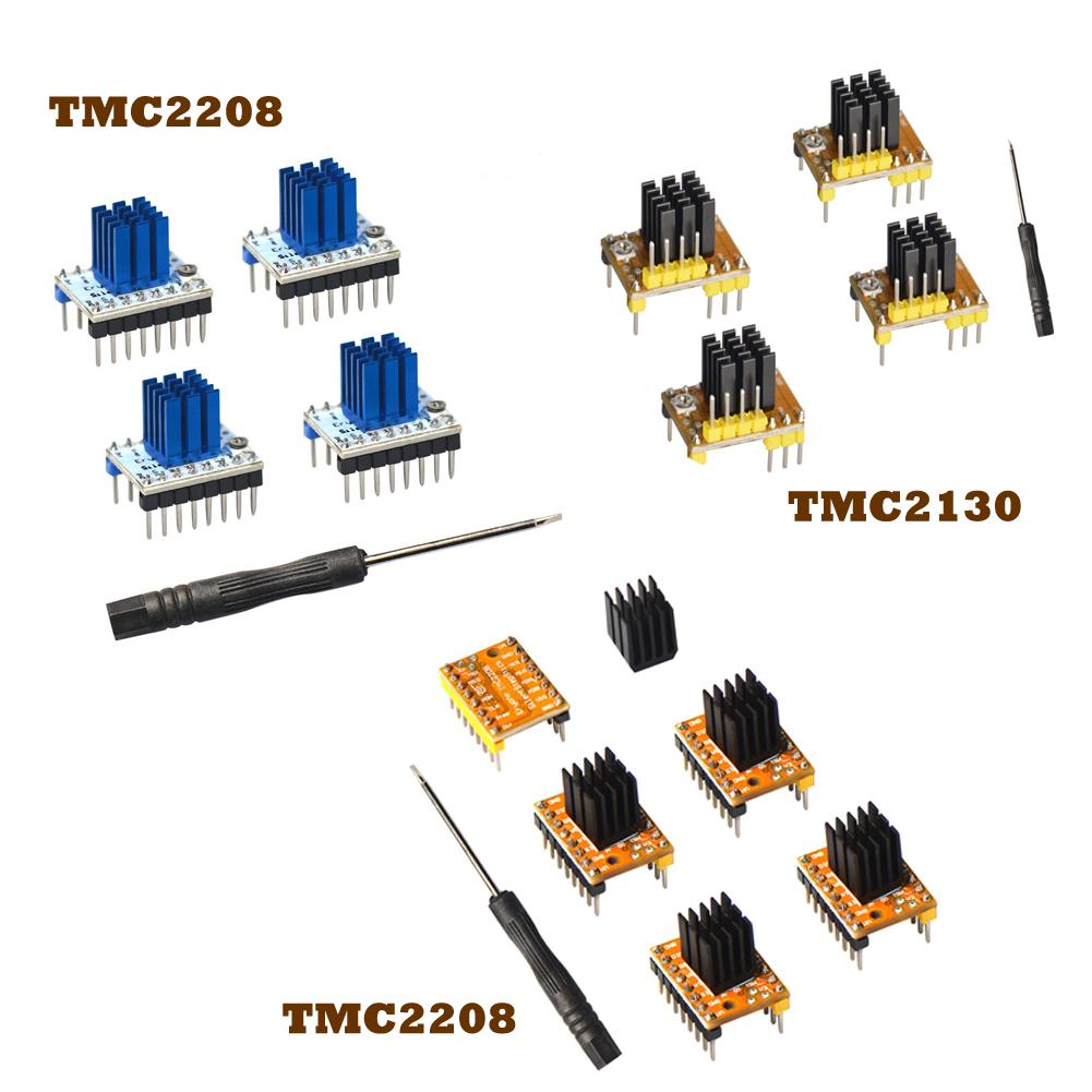 Eryone Stepper Motor Driver TMC2208 2pcs Stepper Motor Driver For FDM 3D Printer Packed with Heat Sink Screwdriver Yellow