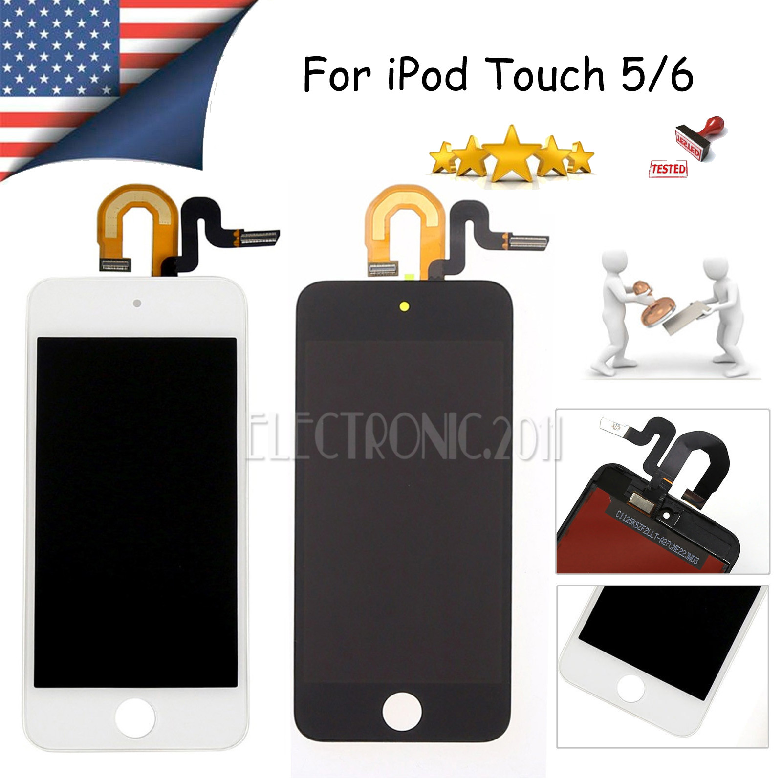 iPod Touch 5 LCD Display Assembly Touch Panel Replacement Part White