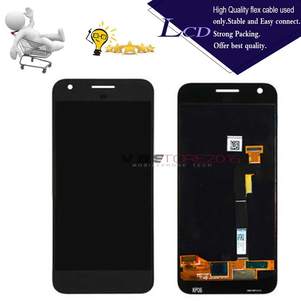 Black Color : Black LCD Screen Mobile Phone and Digitizer Full Assembly for Google Pixel//Nexus S1