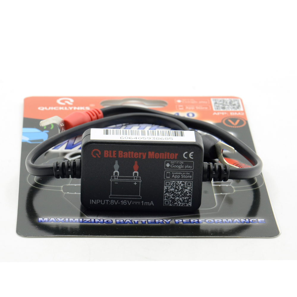 Car Battery Monitor : Quicklynks bm ble battery monitor bluetooth device