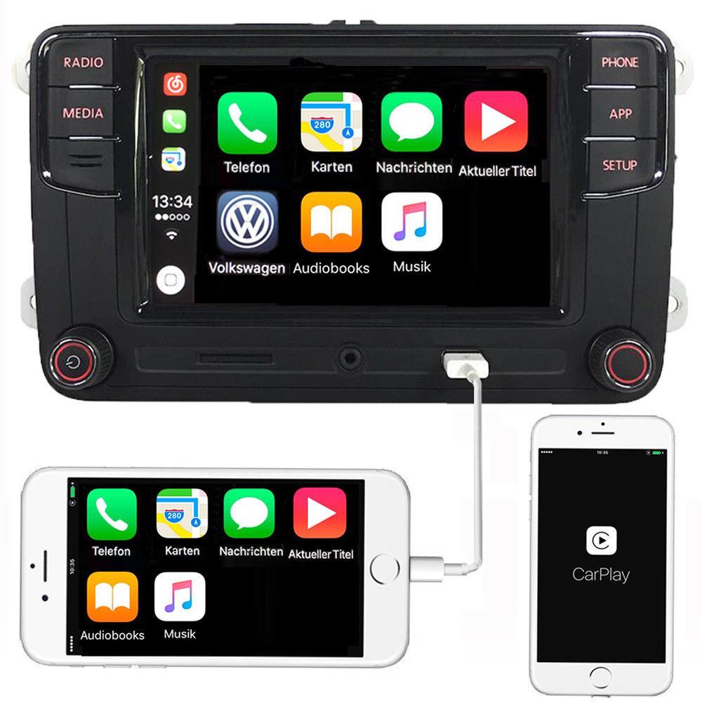 autoradio rcd330 carplay mirrorlink android auto bt usb f r vw golf tiguan caddy ebay. Black Bedroom Furniture Sets. Home Design Ideas