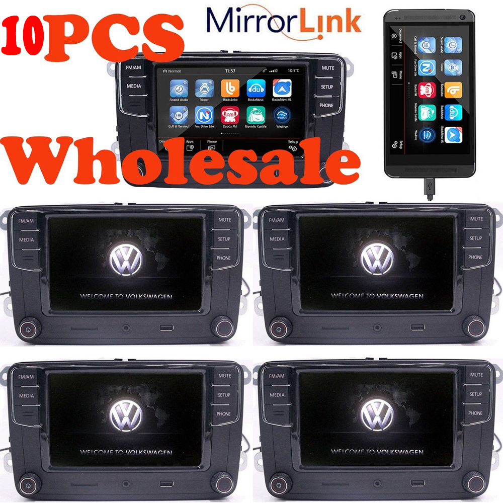 10stk gro handel 6 5 autoradio vw rcd330 mirrorlink bt usb. Black Bedroom Furniture Sets. Home Design Ideas