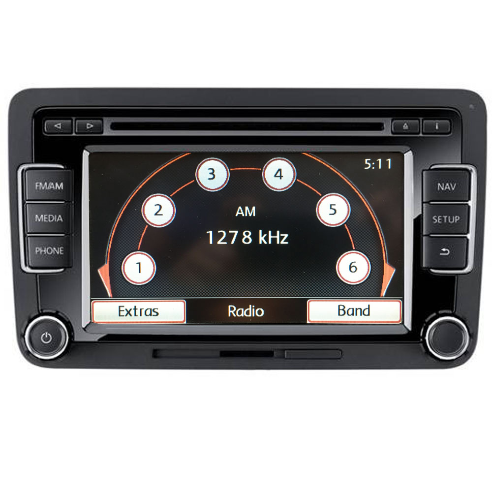 vw rns315 autoradio navigation cd bluetooth golf passat. Black Bedroom Furniture Sets. Home Design Ideas