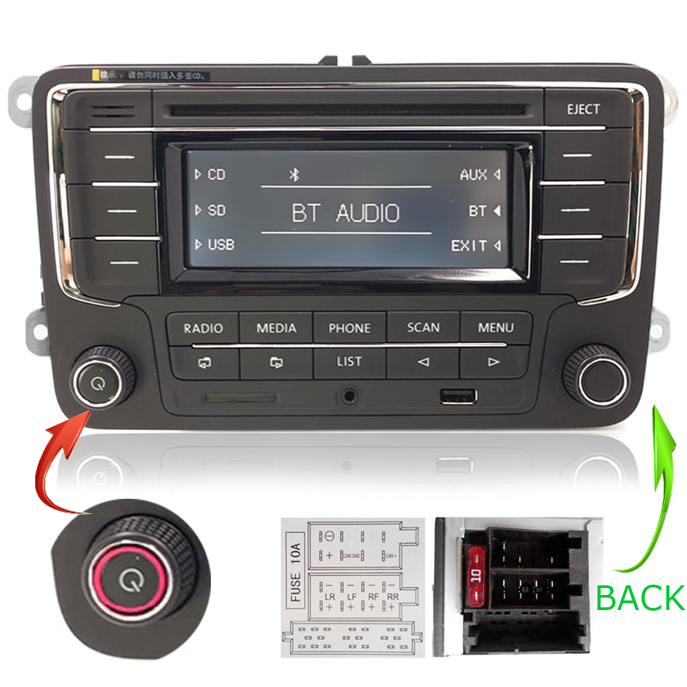 vw autoradio rcn210 pour golf passat caddy polo eos. Black Bedroom Furniture Sets. Home Design Ideas