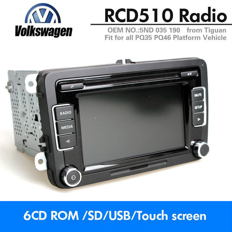 Details about Car Stereo Radio VW RCD510 6CD USB SD AUX MP3 Golf Passat  Tiguan Polo Caddy EOS