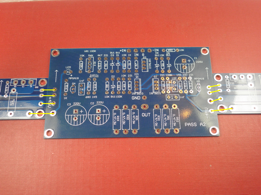 One Set Pure Class A 100w  2 Irf244 Mosfet Power Amplifier